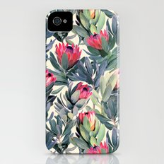 Painted Protea Pattern Slim Case iPhone (4, 4s)