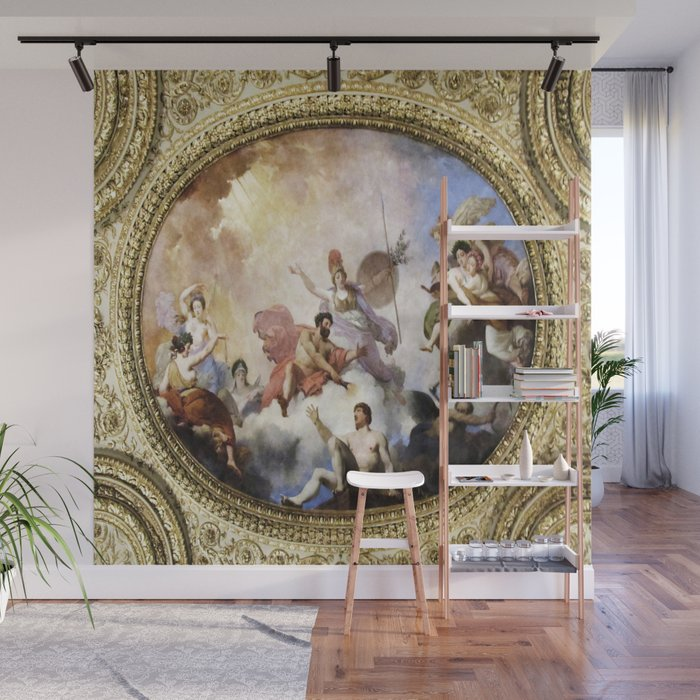 Fresco on Ceiling in Paris Wall Mural