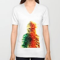 chewbacca V-neck T-shirts featuring Chewbacca by Tom Johnson