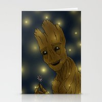 groot Stationery Cards featuring Groot by Camilla Kipp