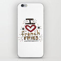 I Love French Fries iPhone & iPod Skin