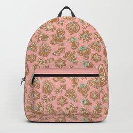 Gingerbread Cookies Pink Backpack