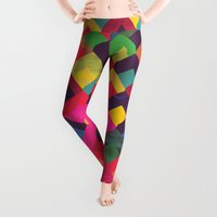 georgiana paraschiv Leggings featuring colour + pattern 11 by Georgiana Paraschiv