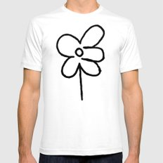 Sidewalk Flower Mens Fitted Tee SMALL White