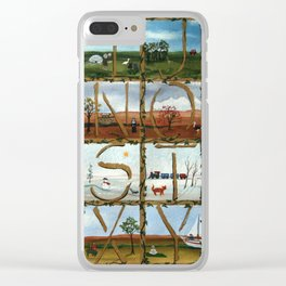 Illustrated Alphabet Clear iPhone Case