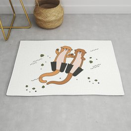 Adorable Otters Rug