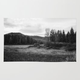 Fish Lake BW - Oregon Rug