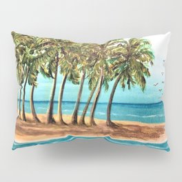 Private Island Painting Pillow Sham