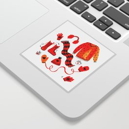 Baby It's Cold Outside - Winter Warmers Watercolor Sticker