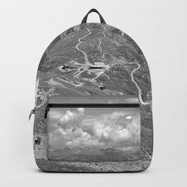 fisser yoke alps panorama serfaus fiss ladis tyrol austria europe black white Backpack