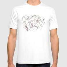 Wolves White SMALL Mens Fitted Tee