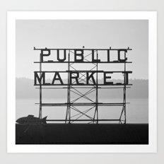 City Fish Market Art Print
