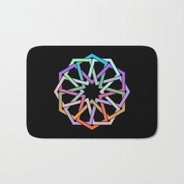 Geometric Art - Hexagon Rose Bath Mat