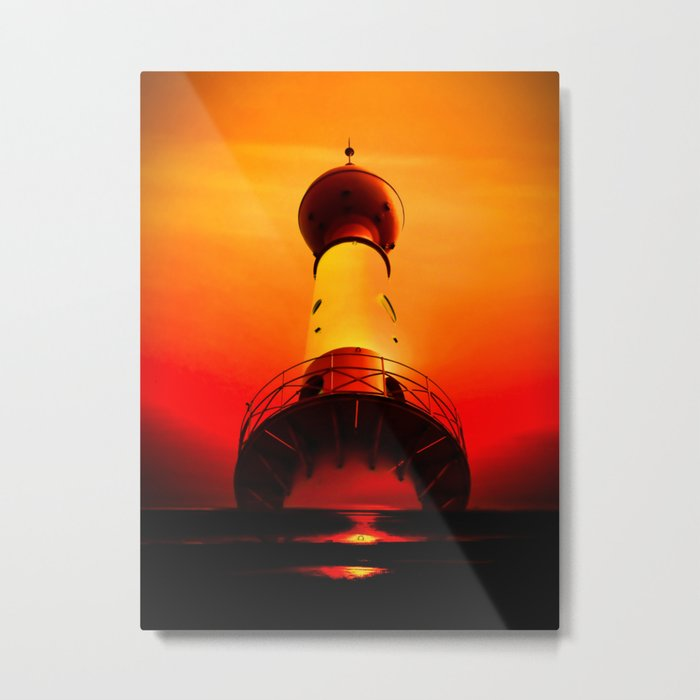 Lighthouse romance Metal Print