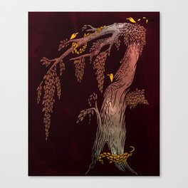 Tree Birds Canvas Print