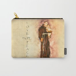 St. Francis Peace, Hope, Love Carry-All Pouch