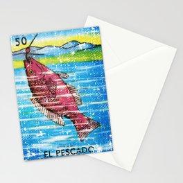 El Pescado Mexican Loteria Bingo Card Stationery Cards