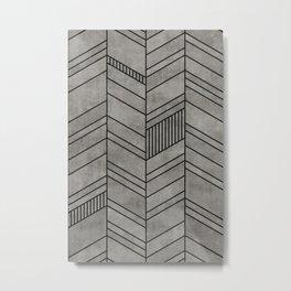 Concrete abstract chevron pattern Metal Print