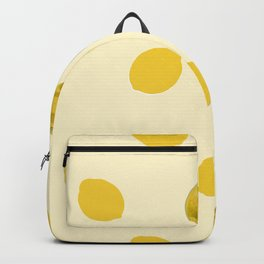 Lemons simple design pattern for fabric seamless pattern with yellow background Backpack