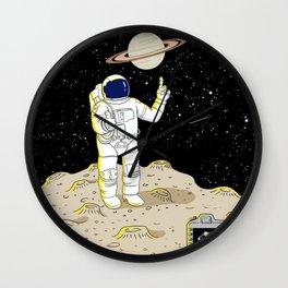 Posing Astronaut  Wall Clock