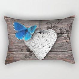 Heart & butterfly | coeur et papillon Rectangular Pillow