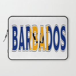 Barbados Font with Barbadian Flag Laptop Sleeve