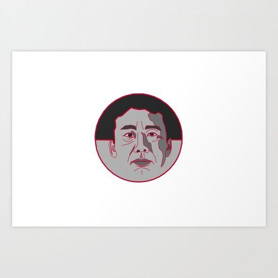 Hinomaru-circle of Murakami Art Print