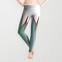 Elegant Agave Fringe Illustration Leggings