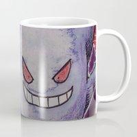 gengar Mugs featuring 94 - Gengar by Lyxy