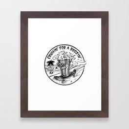 Cruisin' for a Boozin' Framed Art Print