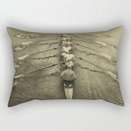 Rowing - Cambridge Crew, 1910 Rectangular Pillow