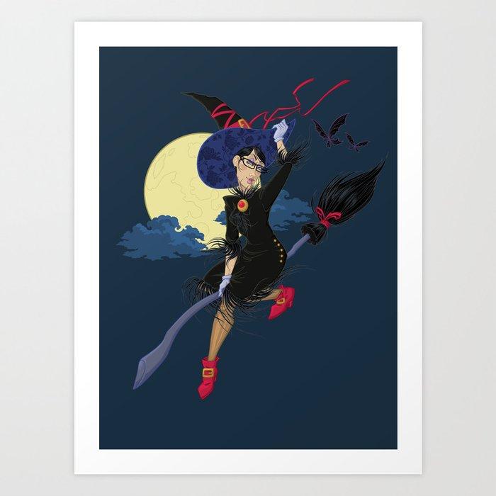 Video game girl 01 Art Print