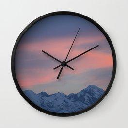 Dreamy Mountains Wall Clock