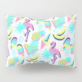 80s Flashback Tropical Fun Pillow Sham
