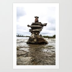 Rock Sculpture Art Print