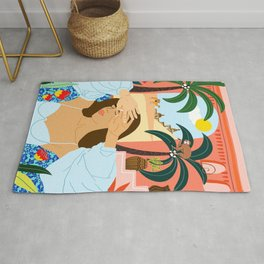 'Cause a little bit of summer is what the whole year is all about Rug