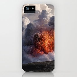 Kilauea Volcano at Kalapana 8 iPhone Case