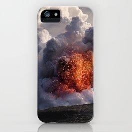 Kilauea Volcano at Kalapana 8 iPhone Case