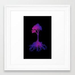 Color tree Framed Art Print