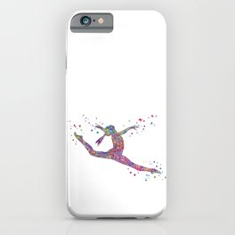 Gymnastics girl iPhone Case