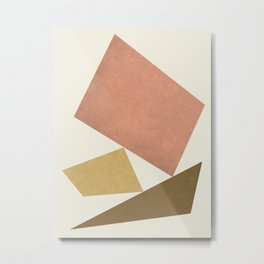 3 Forms Composition - Pink Metal Print