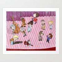 tenenbaums Art Prints featuring O Tenenbaums! by JessLane
