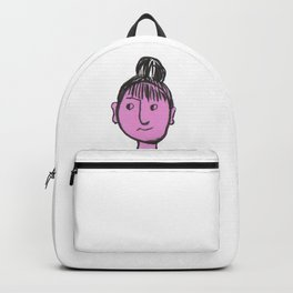 """""""Auntie Rosie"""" woman with a bun Backpack"""