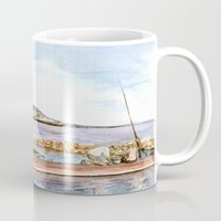 fishing Mugs featuring Fishing by Vargamari