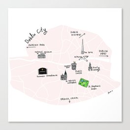 Great cities illustrated: Dublin Canvas Print