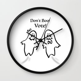 Don't Boo! Vote! Wall Clock