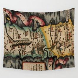 Vintage Map of Sardinia Italy (16th Century) Wall Tapestry