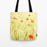 poppies Tote Bags featuring Poppies by Falko Follert Art-FF77
