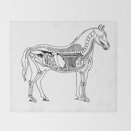 Horse (Inside) Throw Blanket