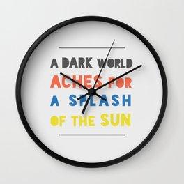 Splash of the Sun Wall Clock